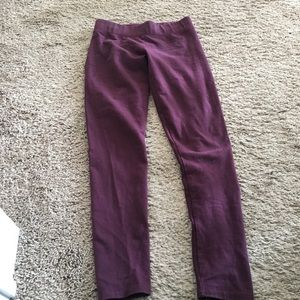 Aerie maroon leggings